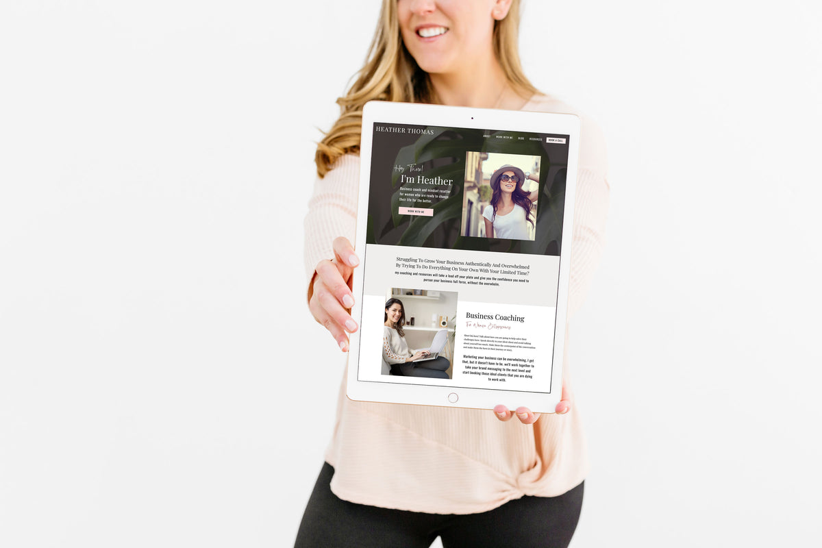 """Heather Thomas"" Showit Template - jessica gingrich"