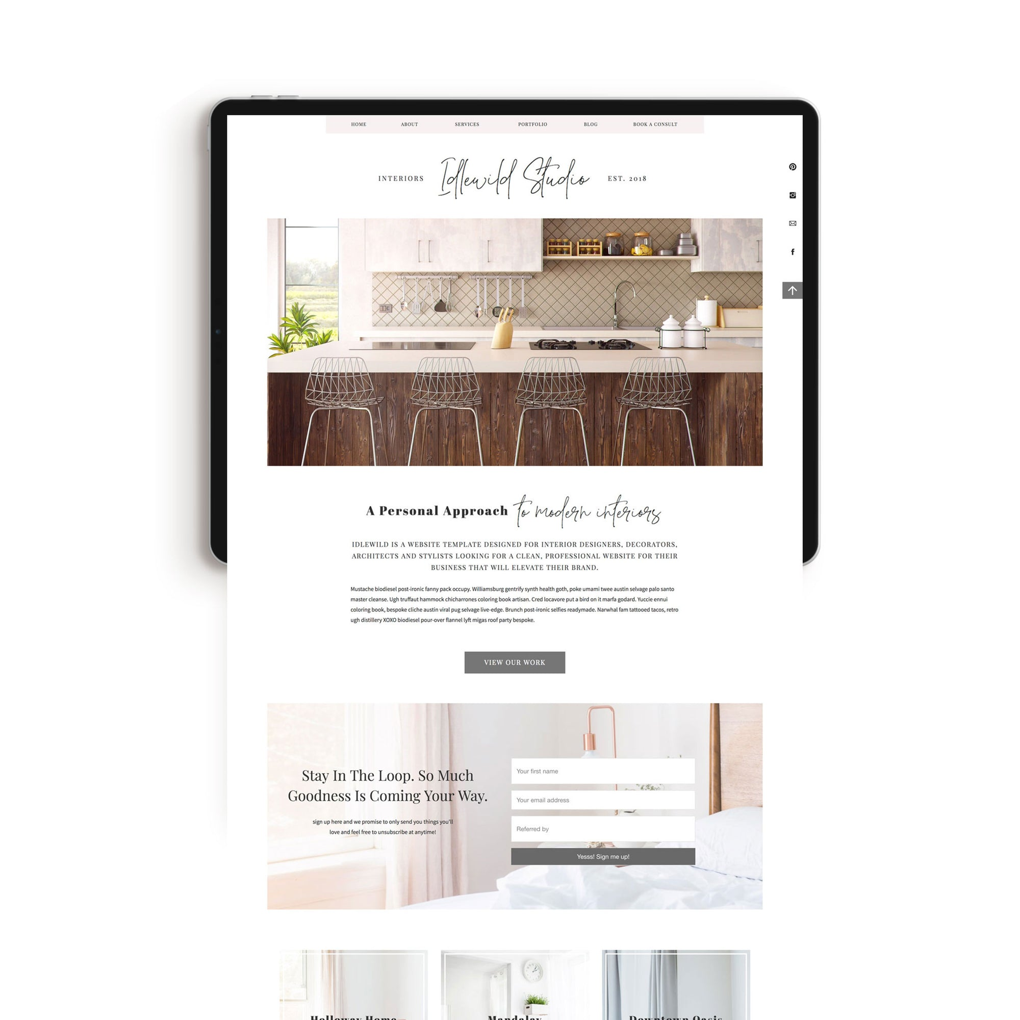 Showit Website Templates For Interior Designers Stylists Bloggers Just Add Moxie,Front Yard Garden Design Ideas With Pebbles