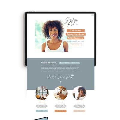 """Jocelyn Raine"" Showit Template - jessica gingrich"
