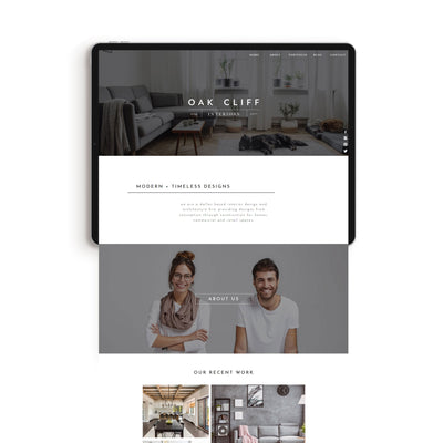 """Oak Cliff Studio"" Showit Template - jessica gingrich"