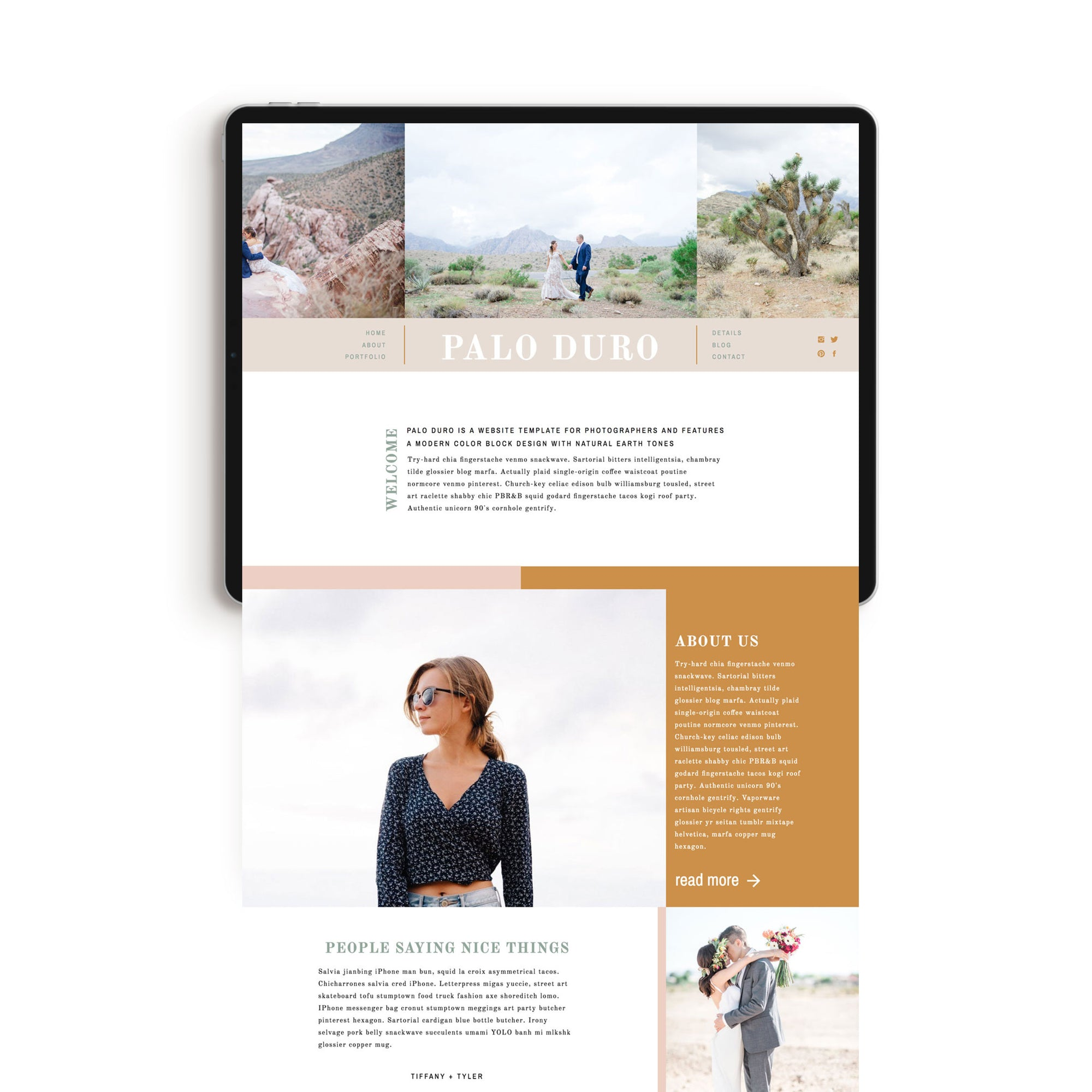 """Palo Duro"" Showit Template - jessica gingrich"