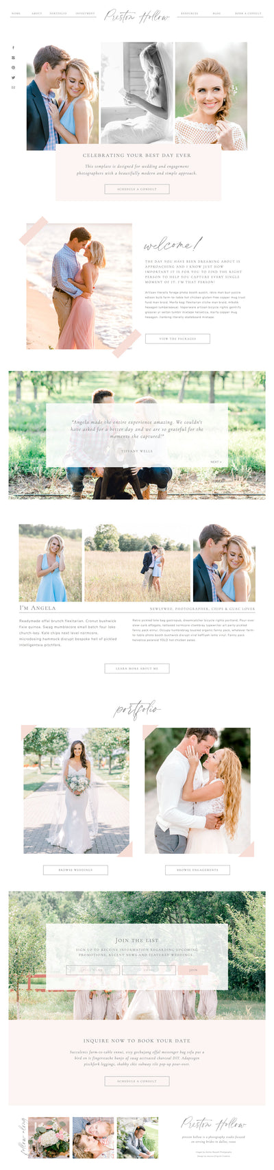 """Preston Hollow"" Showit Template - jessica gingrich"