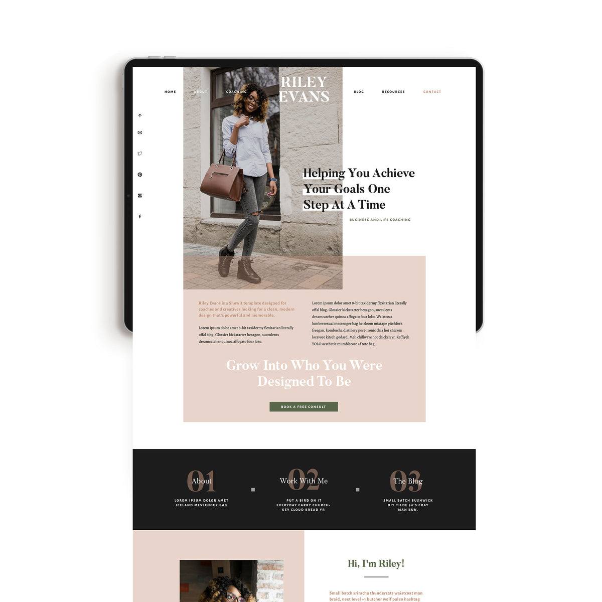 """Riley Evans"" Showit Template - jessica gingrich"