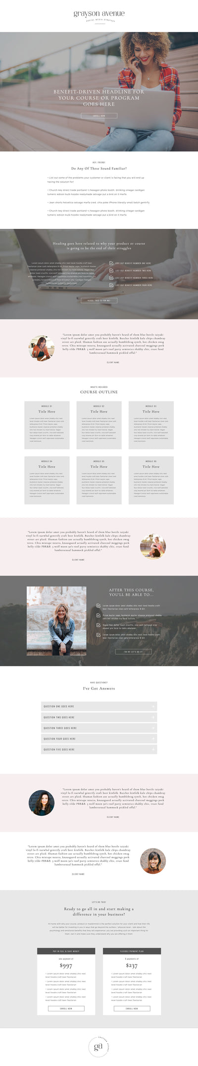 Sales Page #1 Template - jessica gingrich
