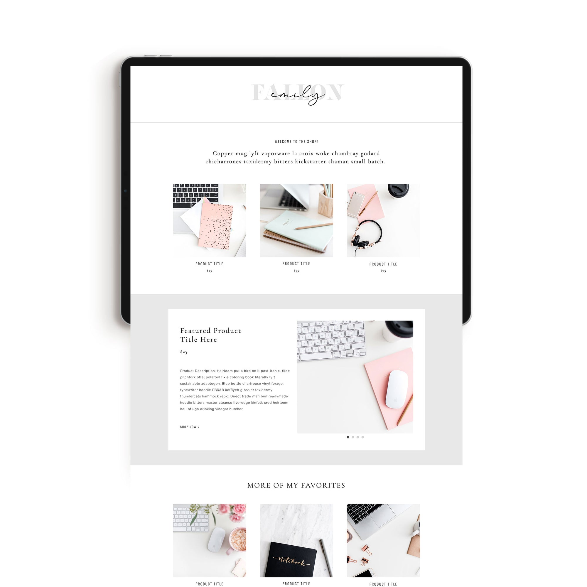 Shop Page #1 Add-On - jessica gingrich