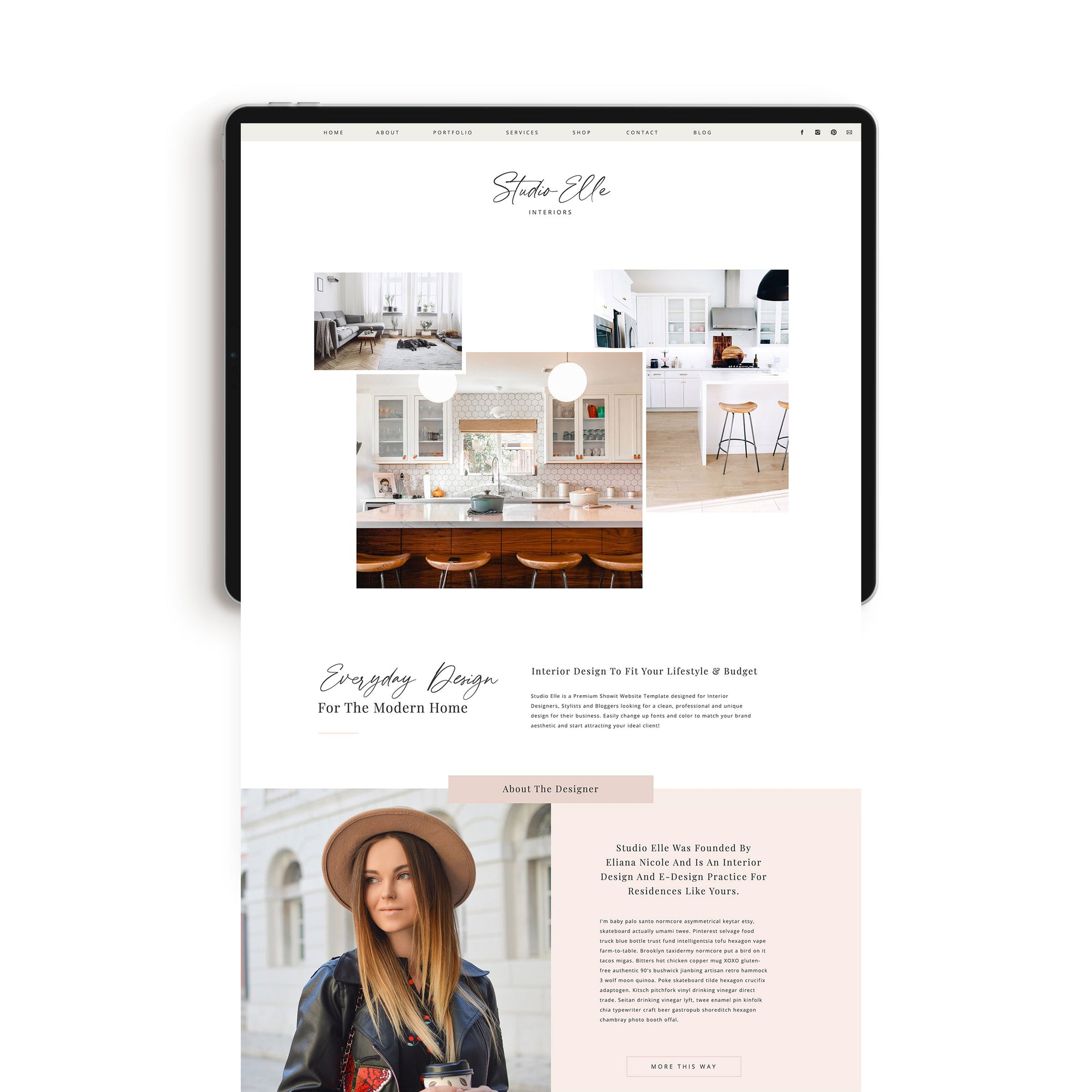 """Studio Elle"" Showit Template - jessica gingrich"