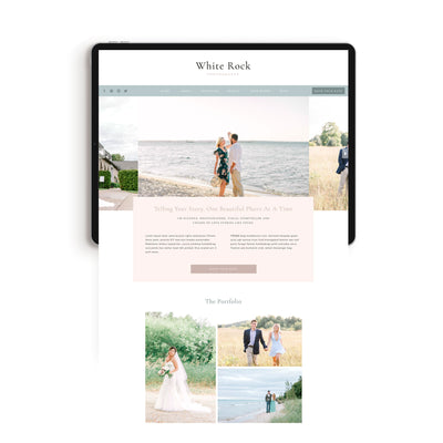 """White Rock"" Showit Template - jessica gingrich"