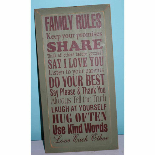 Family Rules: Keep your promises. - Wood Sign-Wood signs-Your Southern Heart Boutique-Your-Southern-Heart-Boutique