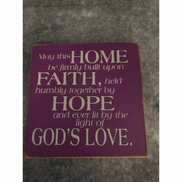 May this home be firmly built upon faith – Wood Sign-Wood signs-Your Southern Heart Boutique-Your-Southern-Heart-Boutique