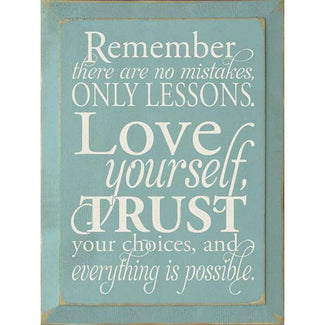 Remember there are no Mistakes – Wood sign-Wood signs-Your Southern Heart Boutique-Your-Southern-Heart-Boutique