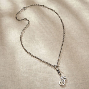 JS Monogram Letter I Necklace