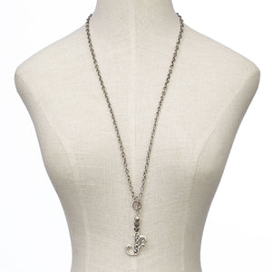 JS Monogram Letter U Necklace