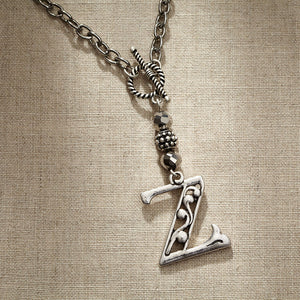 JS Monogram Letter Z Necklace