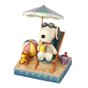 Snoopy and Woodstock at Beach
