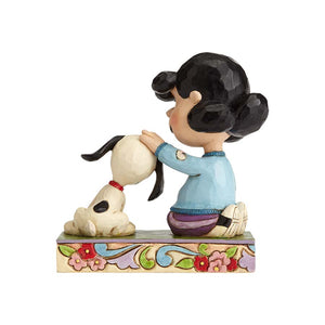 Lucy Petting Snoopy