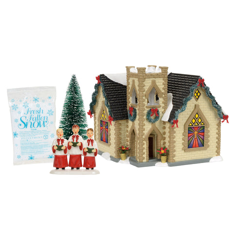 golden cross church box setsku 4056679box set includes lit house accessory tree and snow in snow village christmas eve is especially beautiful at