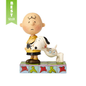 Snoopy with Charlie Brown