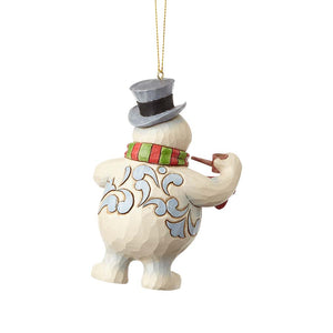 Frosty with  Broom Ornament