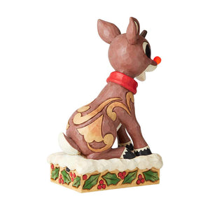 Rudolph w/Lighted Nose Statue