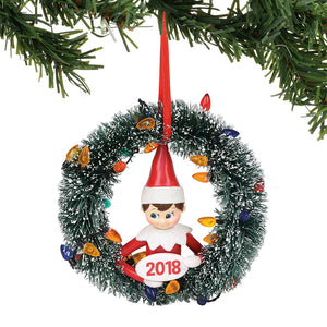Dated 2018 Wreath Ornament