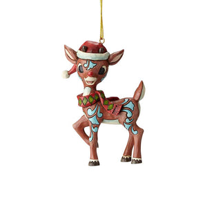Rudolph in Santa Hat Ornament