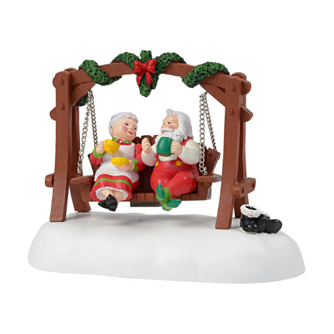 santa and mrs claus taking a nice long well deserved break after the holidays introduced january 2018 village animated accessories electrical adapter