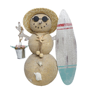 COAST Snowman Surfboard Decor