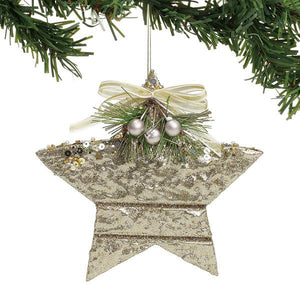 CLAXM Gold Star Ornament