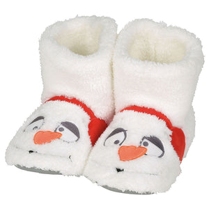 Snowman Slipper, Adult Sm/Med
