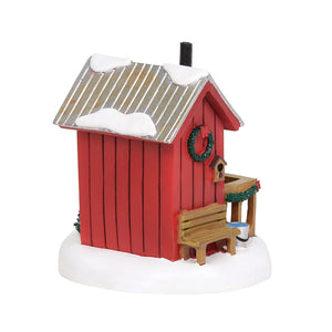Lit Village Outhouse