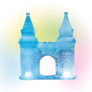 Lit Ice Castle Gate