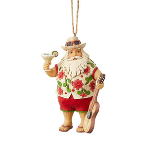 Santa In Shorts Ornament