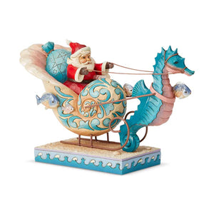Coastal Santa in Shell Sleigh