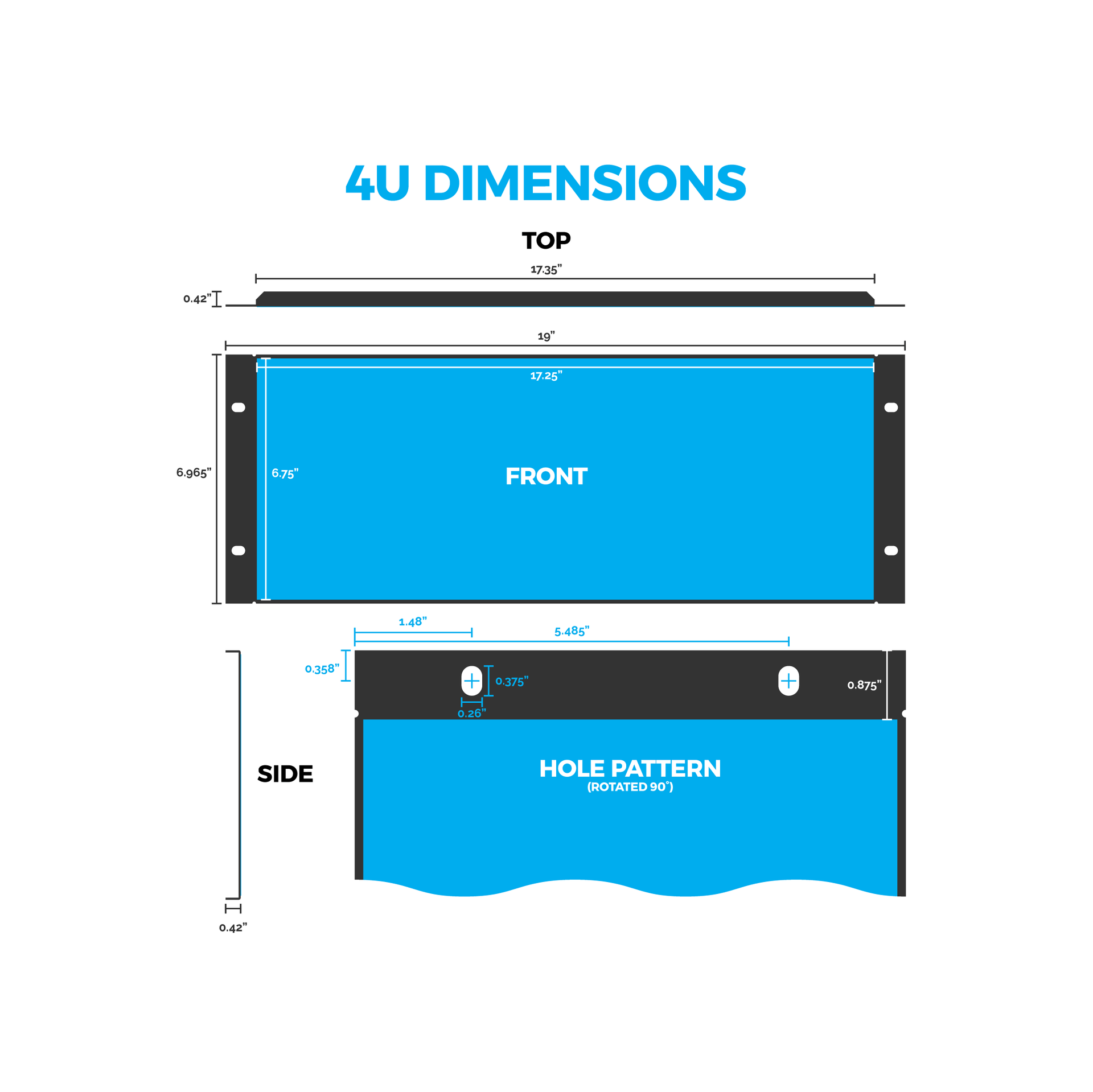 4U Graphic Rack Panel