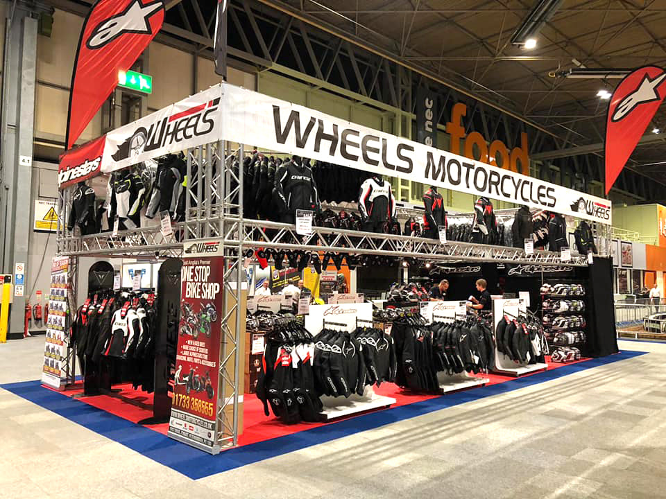WE'RE AT MOTORCYCLE LIVE