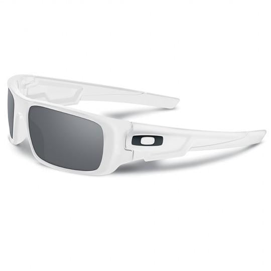 Oakley Crankshaft Sunglasses Polished White (Grey Lens)