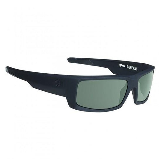 Spy Optic General Soft Matte Black Sunglasses Polarized Happy Lens