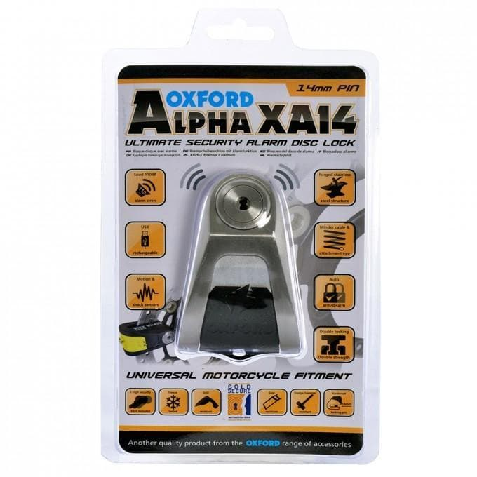 Alpha XA14 Alarm Disc Lock 14mm Stainless