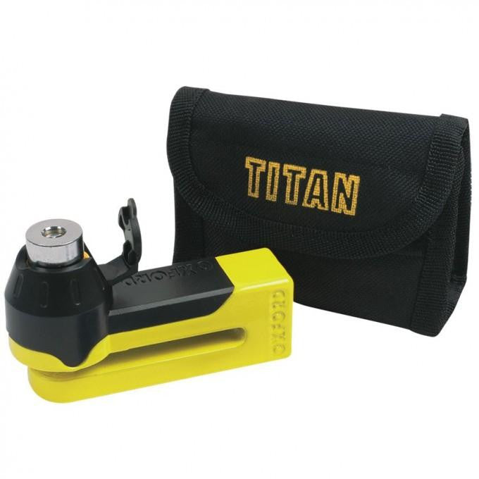 Titan yellow Disc-Lock & Pouch