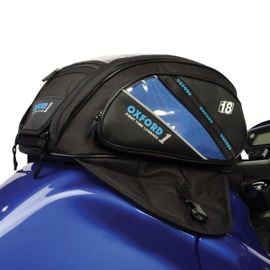 Oxford First Time Magnetic Tank Bag Black 18L