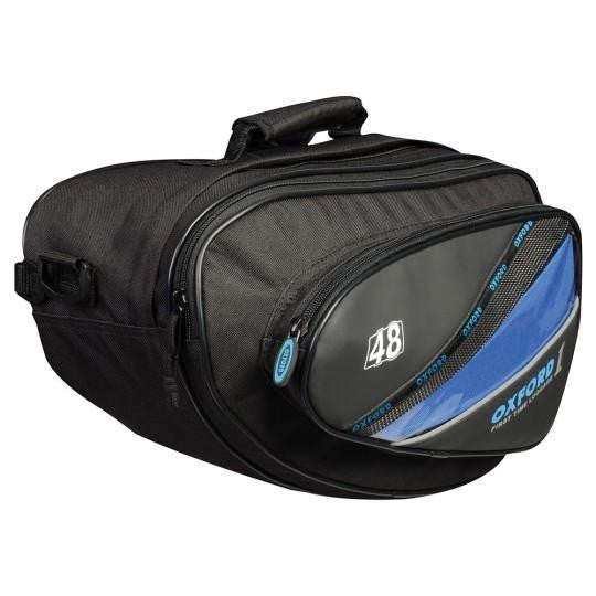 Oxford First Time Sports Expanding Panniers Black 48L (pair)