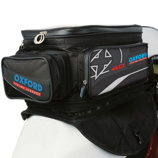 Oxford X40 Lifetime Motorcycle Expander Tank Bag 2014 40L Black