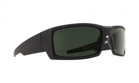 SPY General Black Sunglasses Happy Bronze Polarized Black Mirror Lens