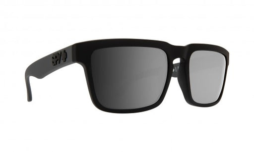 SPY Optic Helm Sunglasses Matt Black with Happy Green Spectra Polarized Lenses