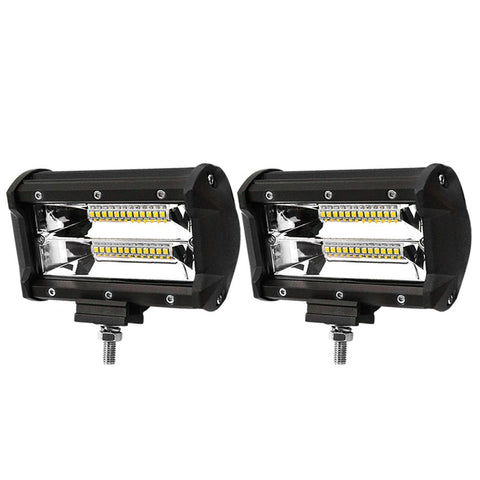 2x 5inch LED Work Light Bar Flood Beam Reverse Driving Lights Offroad 4WD