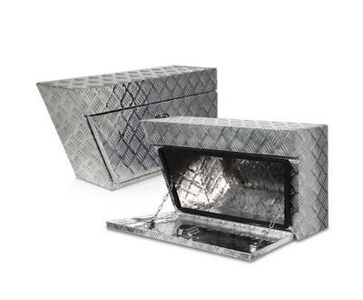 Pair of Under Tray Undertray Tool Box Aluminium Alloy Underbody Toolbox