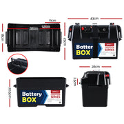 Battery Box 12V Camping Portable Deep Cycle AGM Universal Large USB Cig
