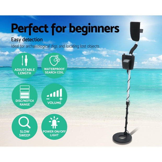 Metal Detector Deep Sensitive Searching Gold Digger Treasure Hunter LCD Screen