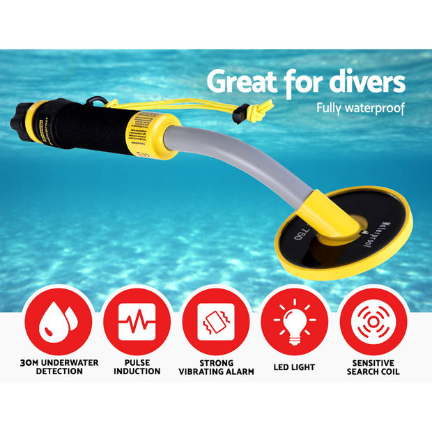 Waterproof Metal Detector 30M Underwater Pinpointer Gold Hunter Deep Sensitive Digger Treasure