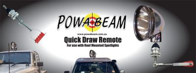 Powabeam Deluxe Folding Spotlight Remote Control Quick Draw Spotlight Remote Control